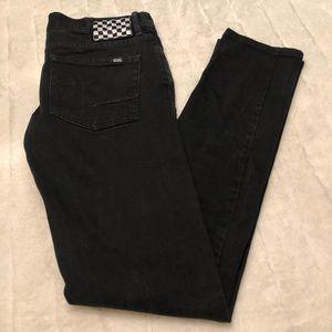 VANS deep black skinny leg jeans size 3